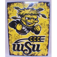 Wsu Wichita State Shockers  NCAA Distressed Metal Sign Wall Plaque New