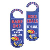 Door Knob Note Hanger Kansas University KU Rock Chalk Jayhawks School Spirit