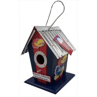 KU Kansas University JayHawks NCAA Licensed Birdhouse Spirit New