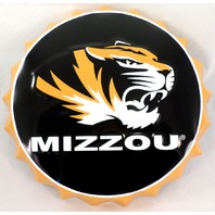 "Mizzou Tigers Missouri Metal Bottle Top Sign 19"" Diameter Made In The Usa"