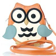 Wise Ole' Hoot Owl Cross Body Bag in Vinyl Handbag Purse