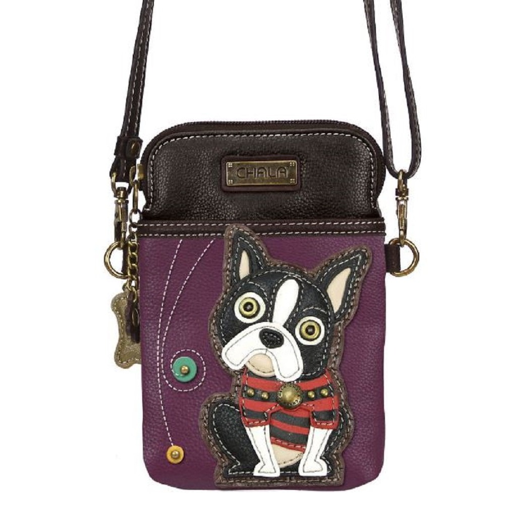Charming Chala Boston Terrier Cell Phone Purse Mini Crossbody Bag