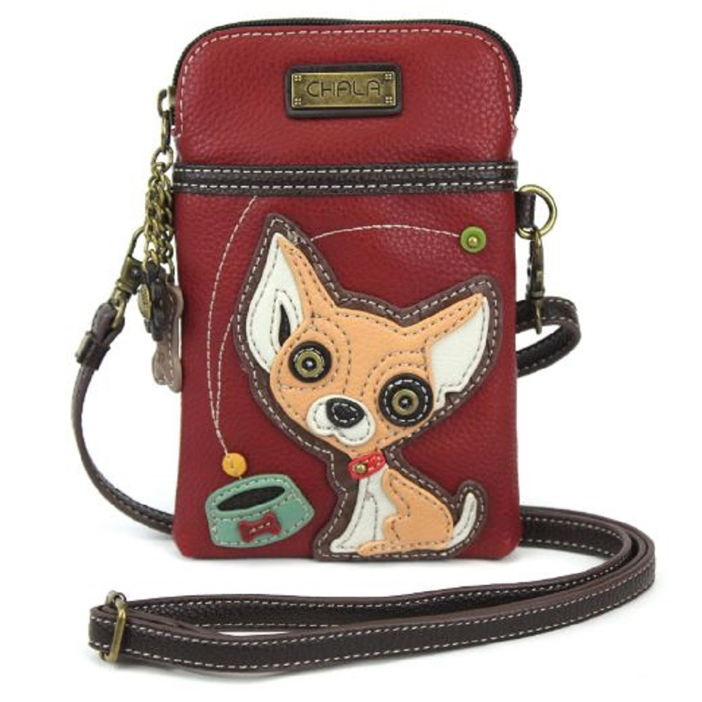 Charming Chala Chihuahua Puppy Dog Cell Phone Purse Mini Crossbody Bag