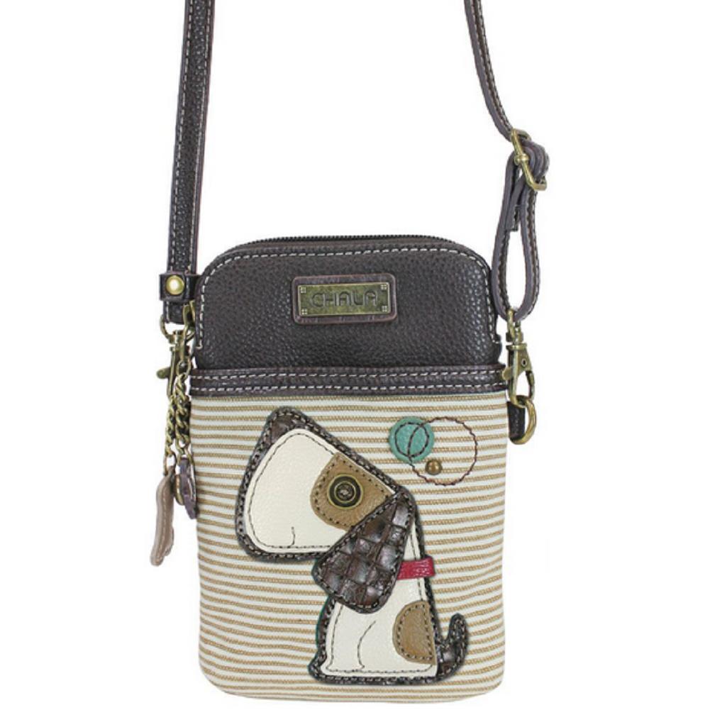 Charming Chala Playful Puppy Dog Cell Phone Purse Mini Crossbody Bag