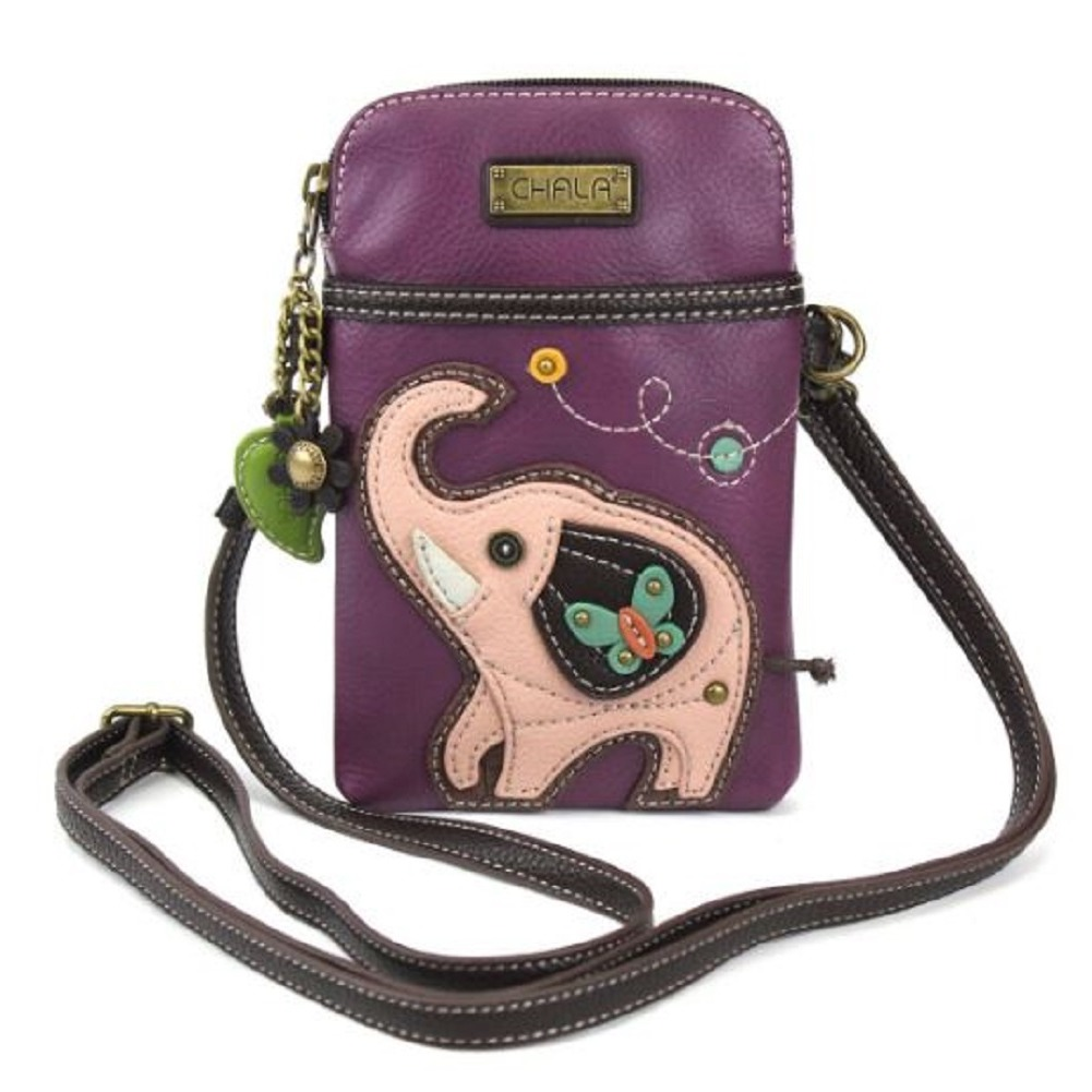 Charming Chala Good Luck Elephant Cell Phone Purse Mini Crossbody Bag