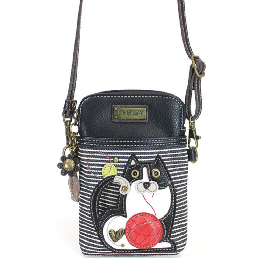 Charming Chala Fat Cat Chubby Kitten Cell Phone Purse Mini Crossbody Bag