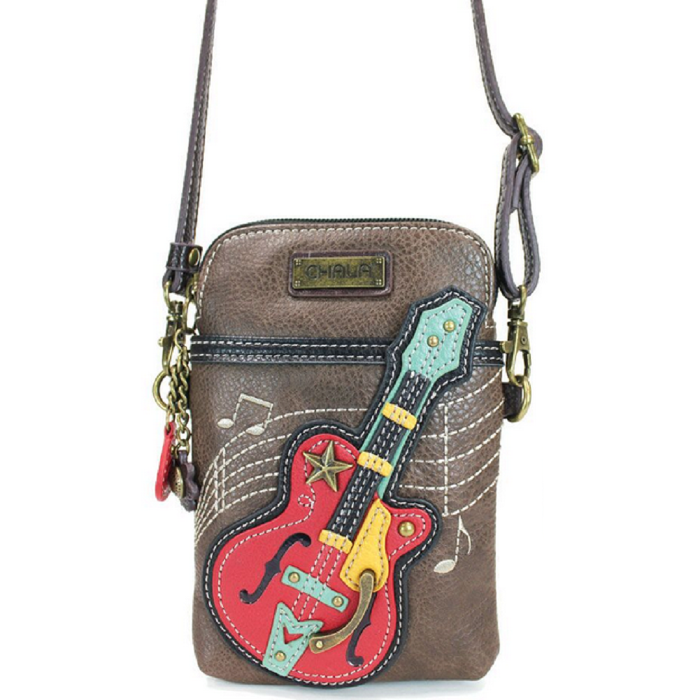 Charming Chala Grand Guitar Cell Phone Purse Mini Crossbody Bag