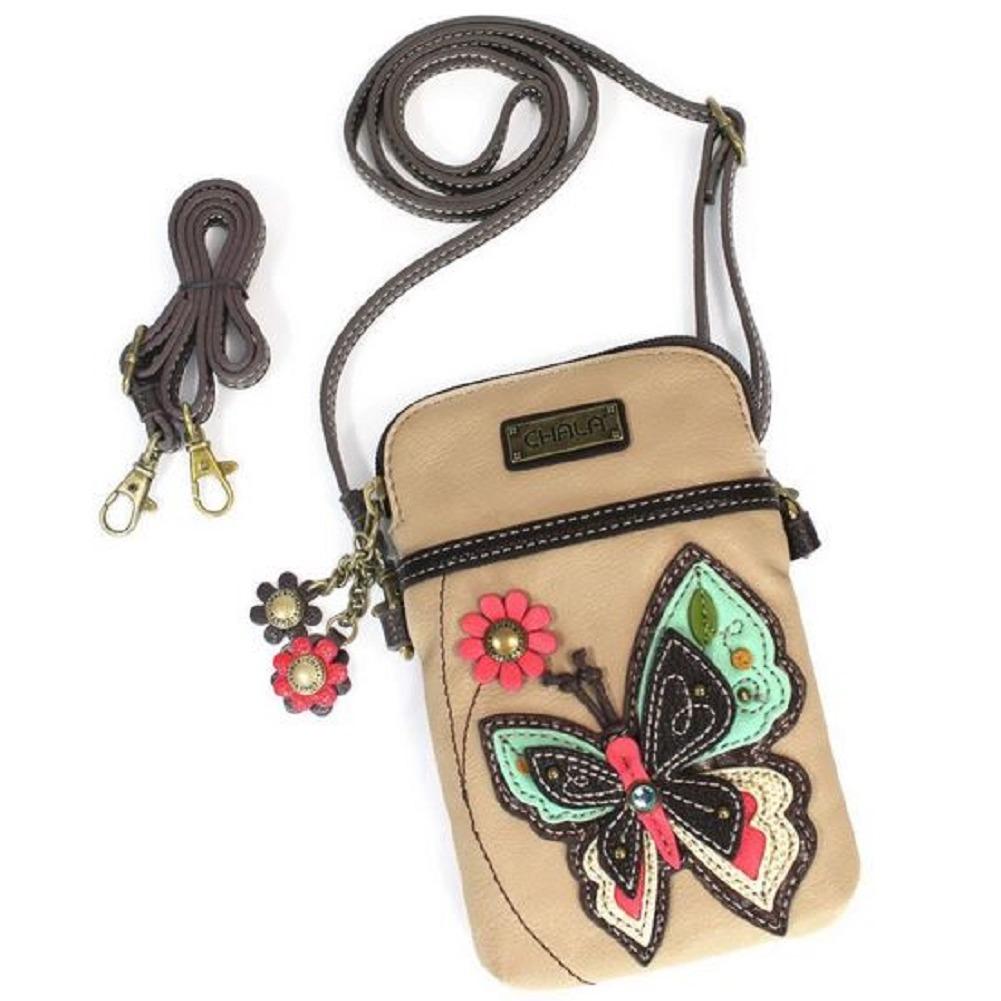 Charming Chala Beautiful Butterfly Cell Phone Purse Mini Crossbody Bag