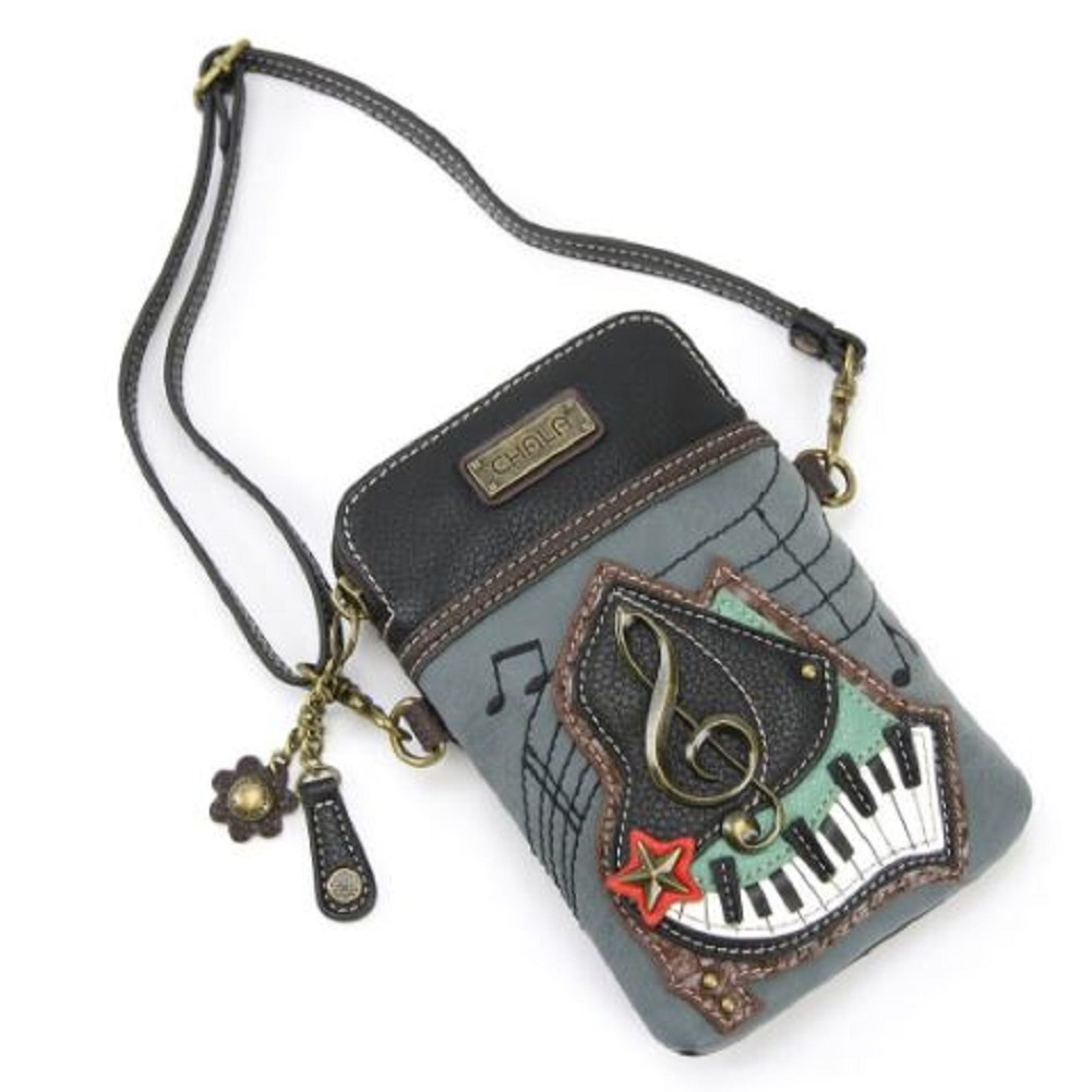 Charming Chala Musical G Clef Piano Cell Phone Purse Mini Crossbody Bag