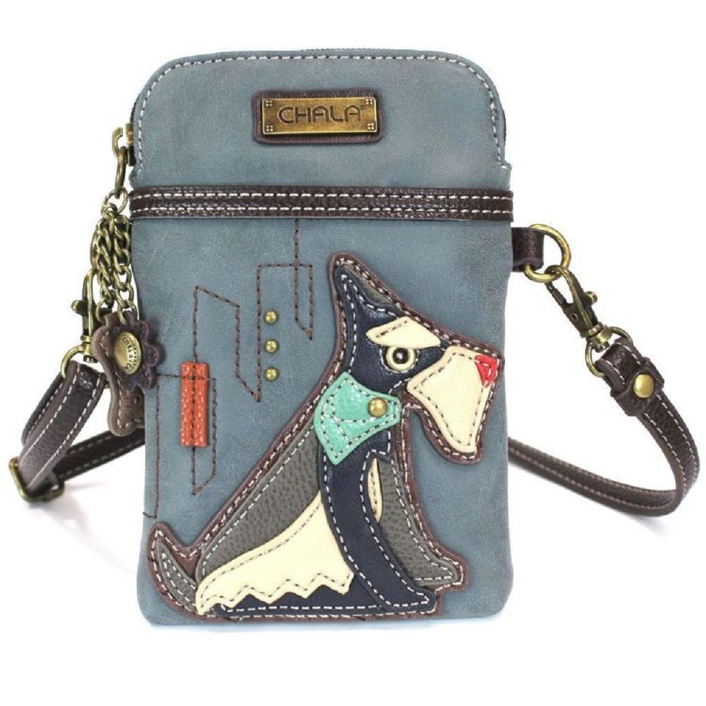 Charming Chala Schnauzer Puppy Dog Cell Phone Purse Mini Crossbody Bag