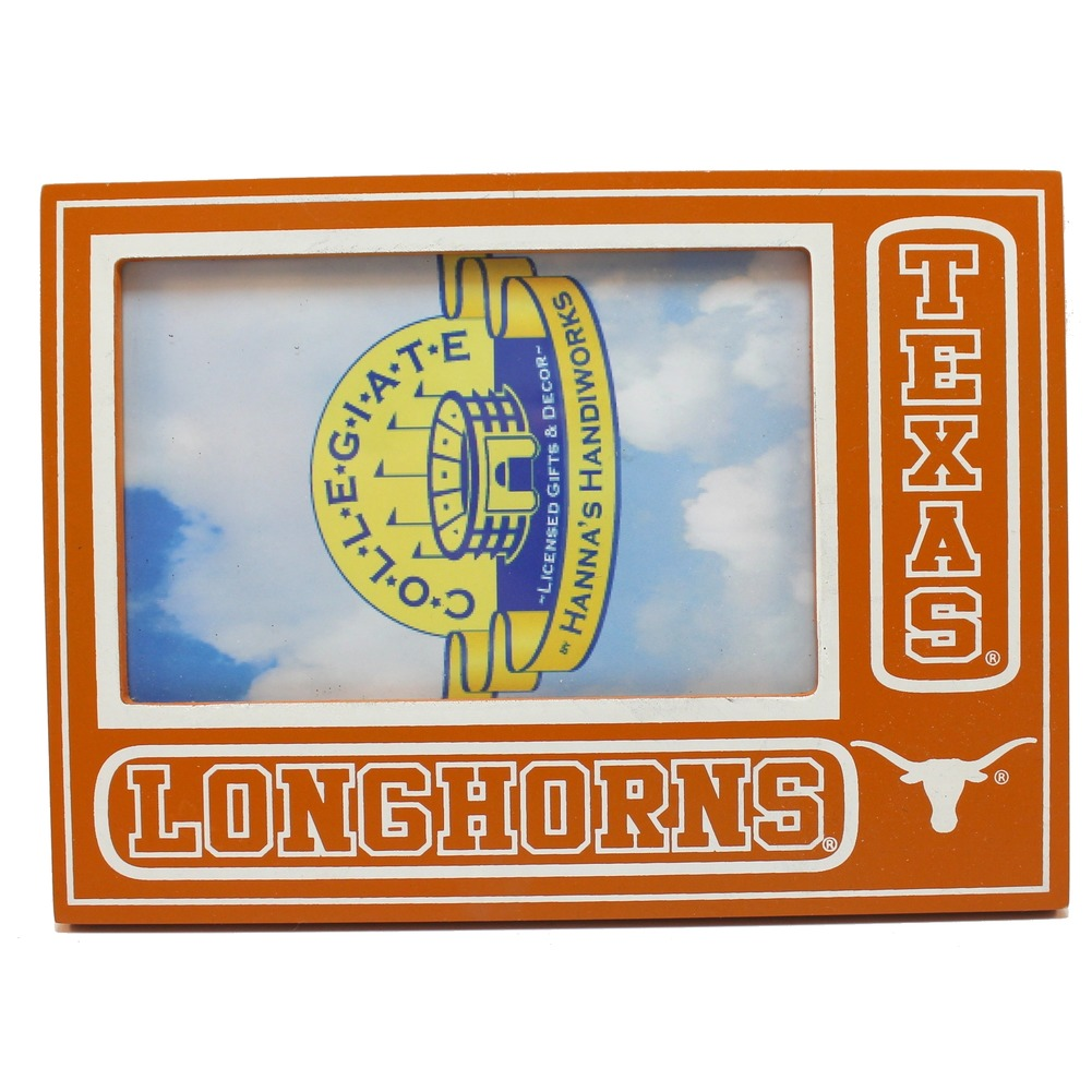 "Texas Longhorns Collegiate 3.5"" x 5.5"" Licensed Wooden Picture Frame"
