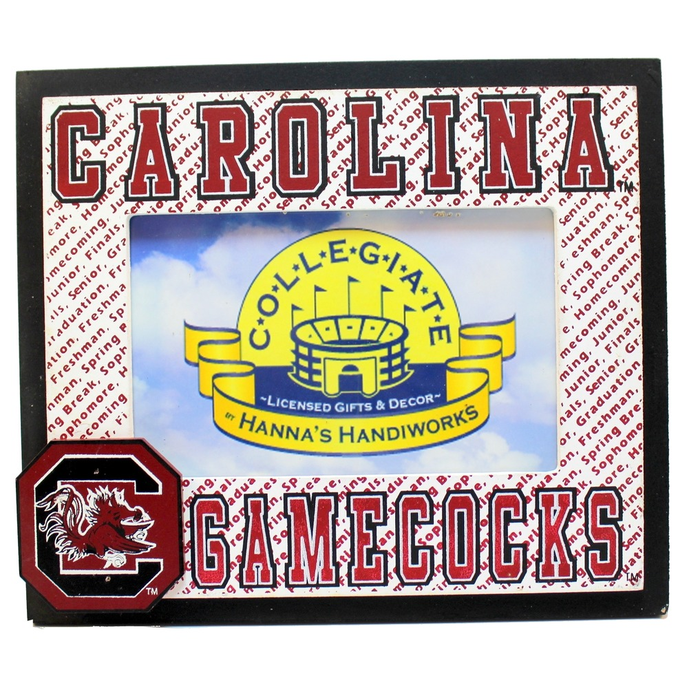 "Carolina Gamecocks Collegiate 4"" x 6"" Licensed Wooden Photo Picture Frame"