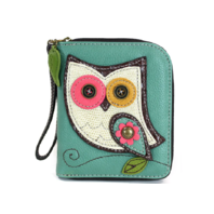 Charming Chala Hoot Hoot Owl Purse Wallet Credit Cards Coins Wristlet