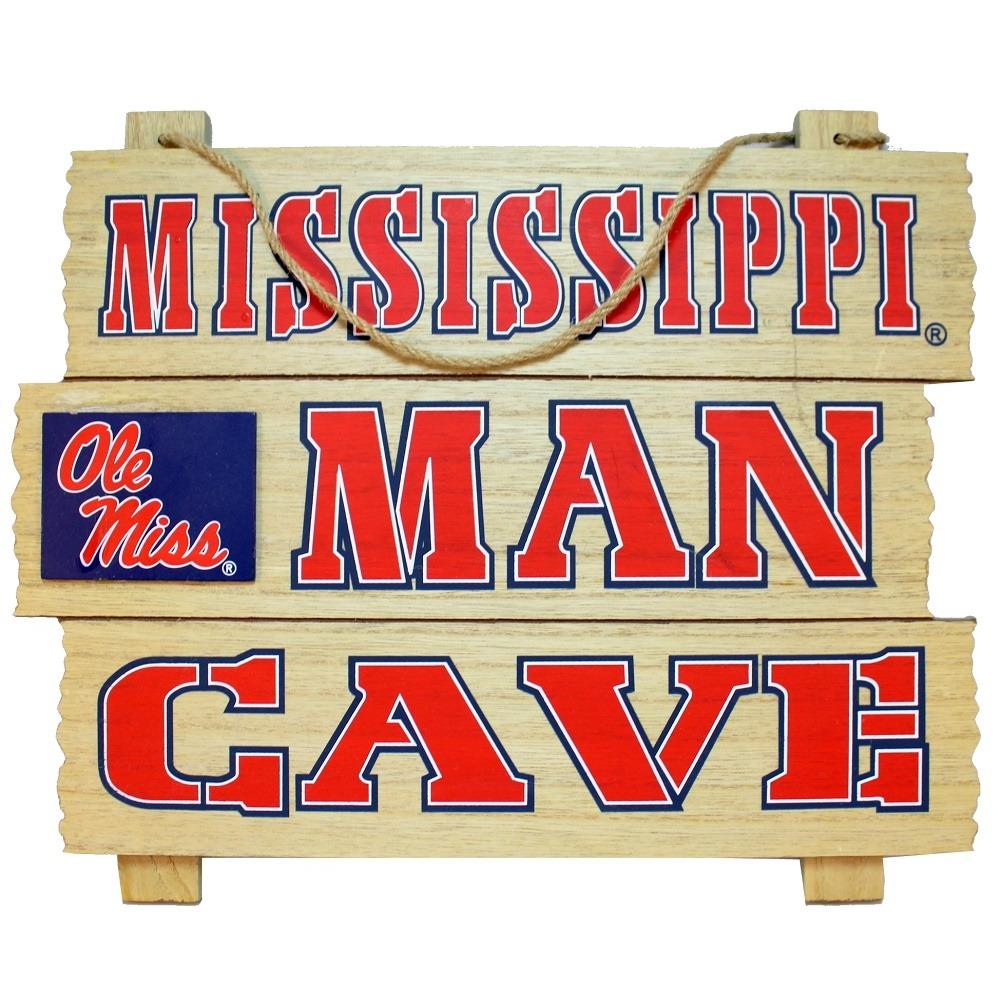 Mississippi Man Cave Ole' Miss Wooden Bar Man Cave Team Sign