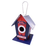 College Mississippi Ole Miss Hotty Toddy NCAA Licensed Birdhouse Spirit New