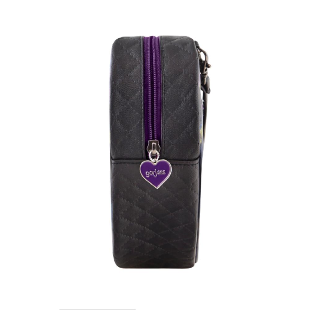 Santoro London Handbag Purse Gorjuss Tartan Heart Shoulder Bag The Dark Streak