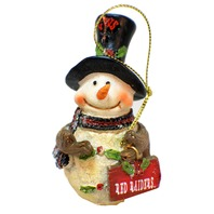 College Texas Tech University Red Raiders NCAA Licensed Snowman Christmas Ornament