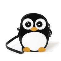 Wide-Eyed Penguin Pal Cross Body Shoulder Bag Handbag Purse