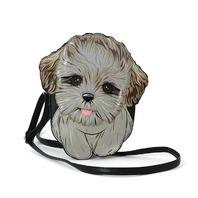 Sleepyville Critters Shih Tzu Puppy Dog Cross Body Purse Handbag