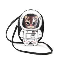 Austronaut Kitty Cat Kitten Space Suit Cross Body Purse Handbag