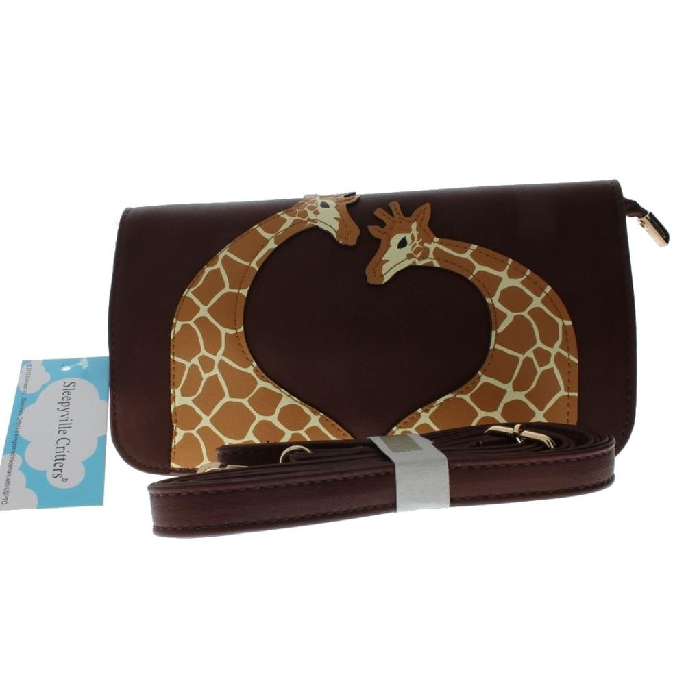 Sleepyville Critters Giraffe Wristlet or Cross Body Shoulder Bag Handbag Purse