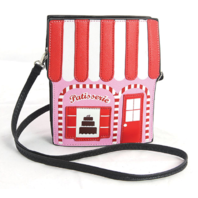 Sleepyville Critters Pink Pastry Shop Cross Body Shoulder Bag Handbag Purse