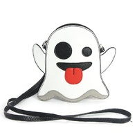 Silly Specter Taunting Ghost Vinyl Crossbody Purse Handbag Bag w/Removable Strap
