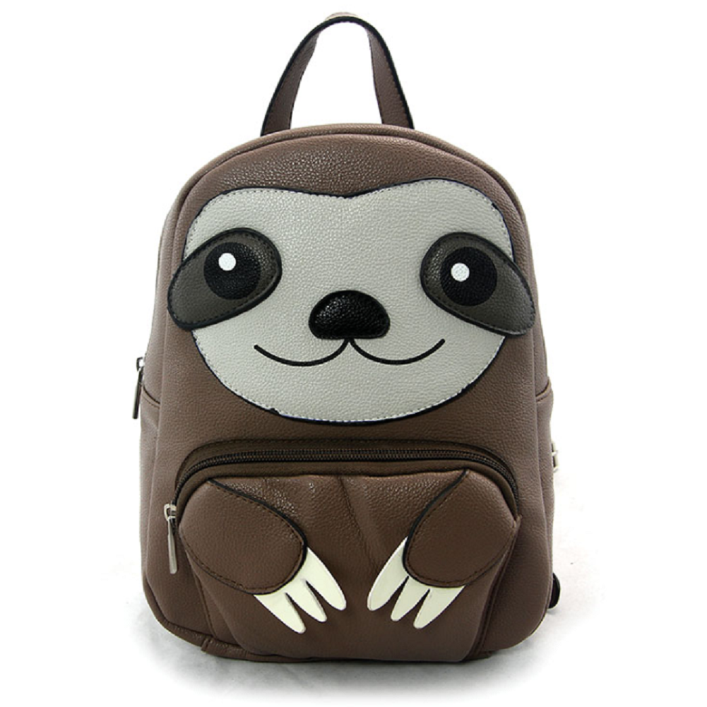 Sleepyville Critters Mini Sloth Backpack Purse in Vinyl Material