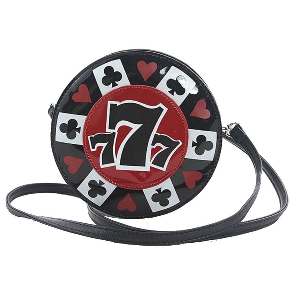 Sleepyville Critters Gamblers Lucky 7 Chip Cross Body Shoulder Bag Handbag Purse