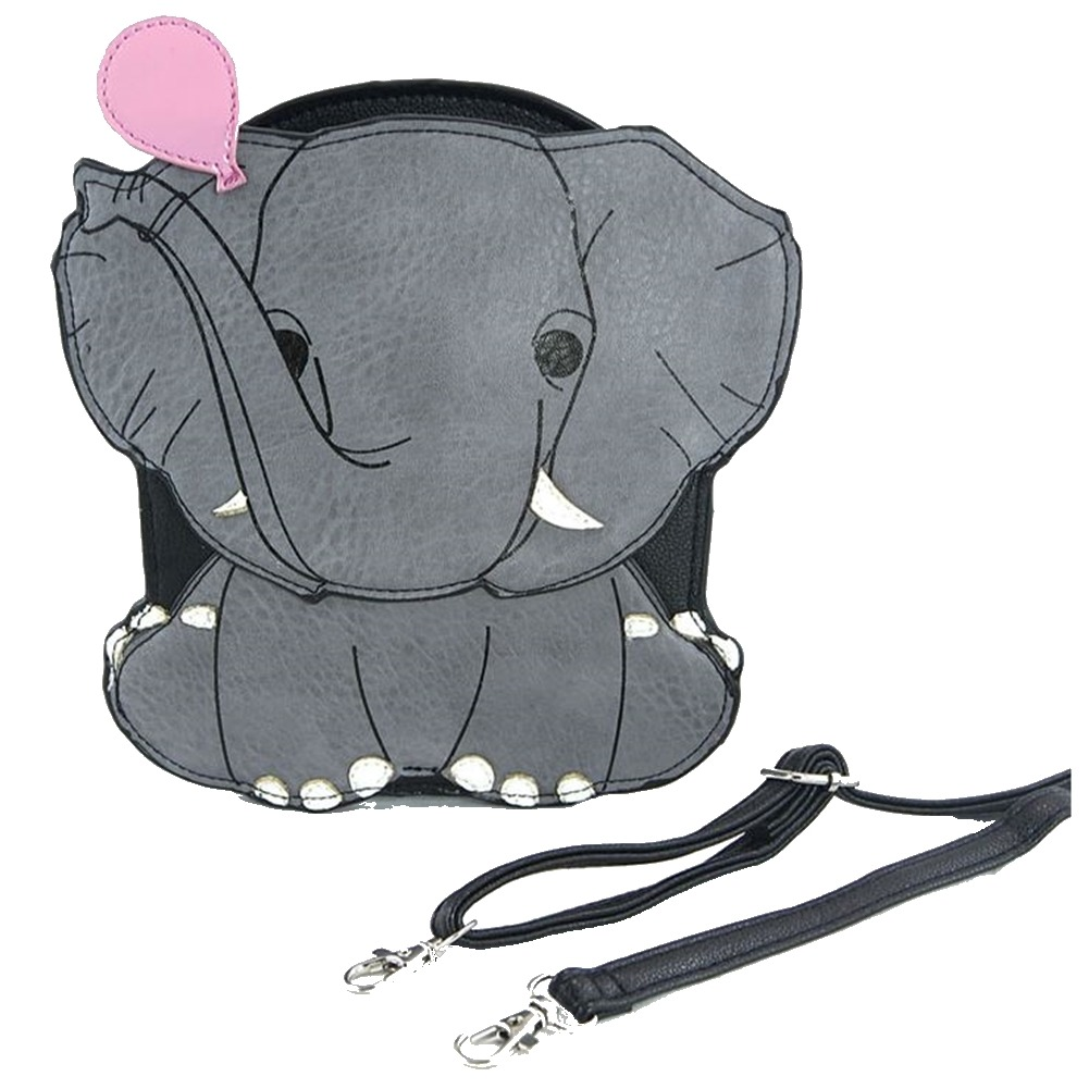 Sleepyville Critters Elephant with Balloon Cross Body Shoulder Bag Handbag Purse