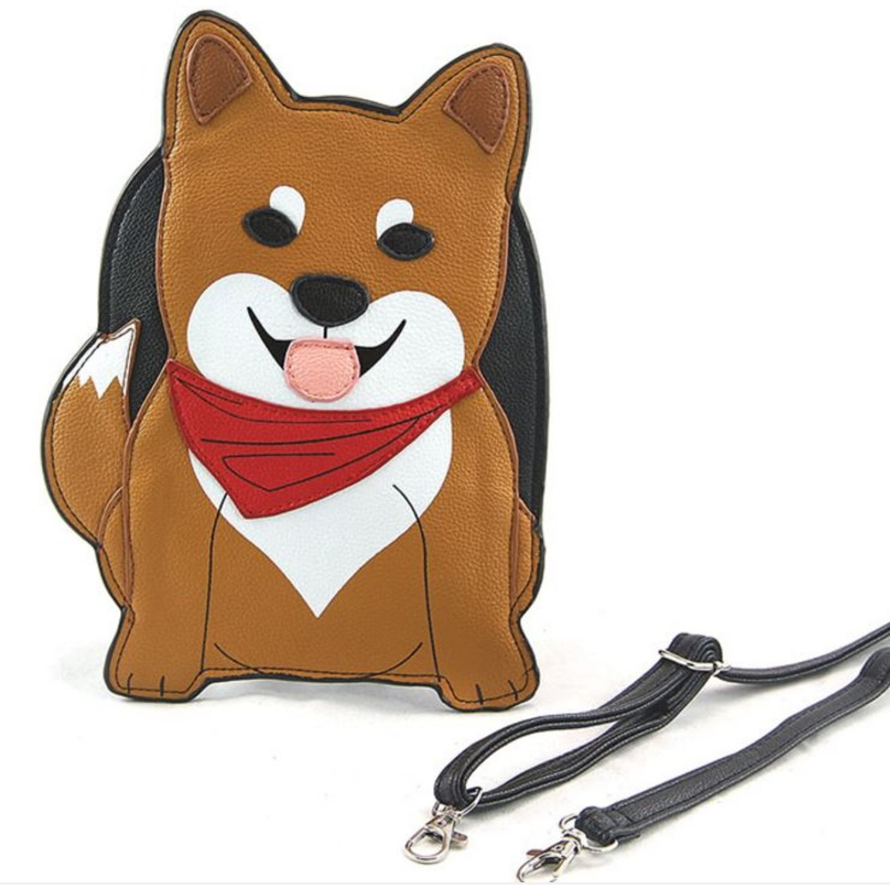 Sleepyville Critters Shiba Inu Puppy Dog Body Shoulder Bag Handbag Purse
