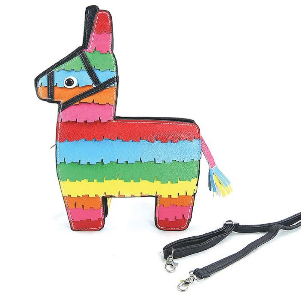 Pinata Donkey Crossbody Bag in Vinyl Material Comeco  Handbag Bag Purse