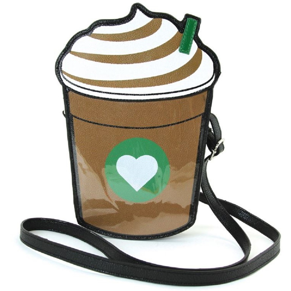 Frapuccino Coffee Cross body Shoulder Bag Handbag Purse