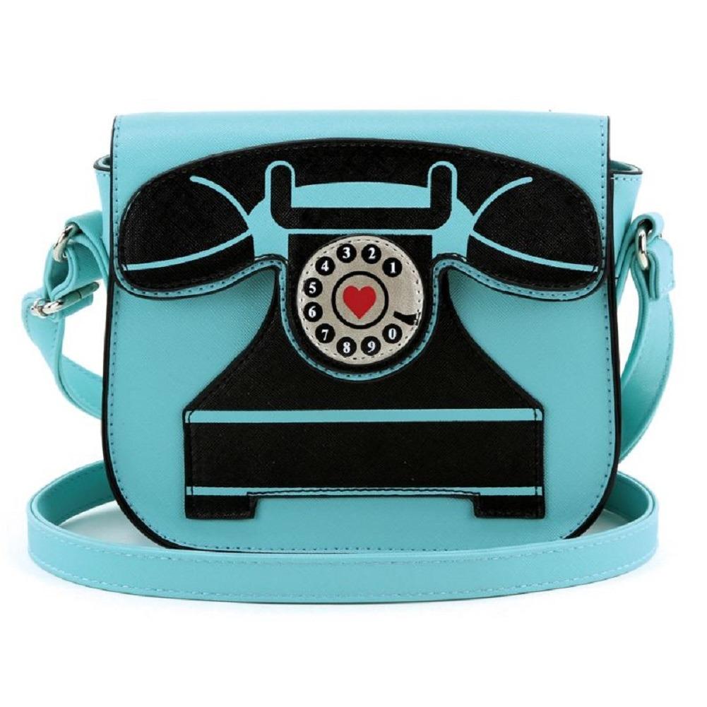 Vintage Style Telephone Phone Shoulder Bag Handbag Purse