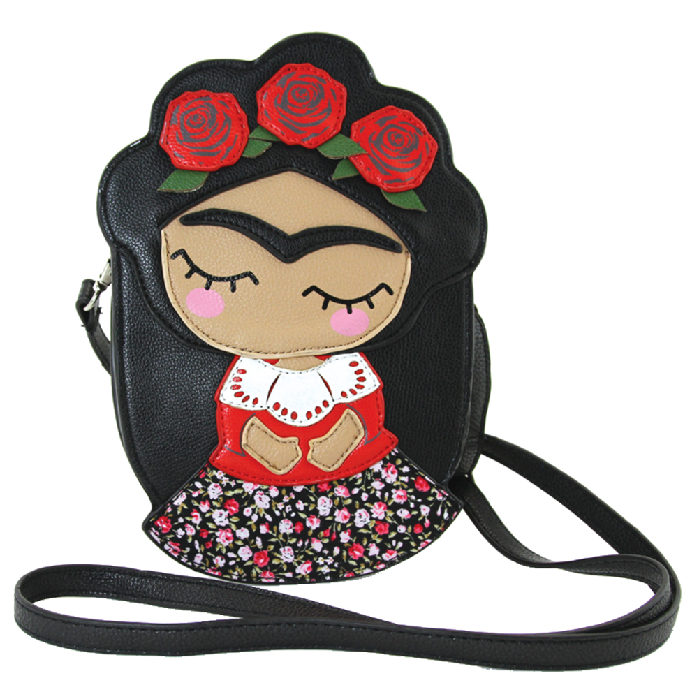Sleepyville Critters Rose Frida Little Girl Crossbody Bag in Vinyl Material