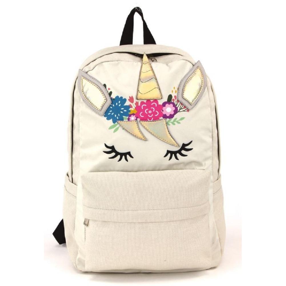 Magical Unicorn Canvas Backpack Satchel Bag