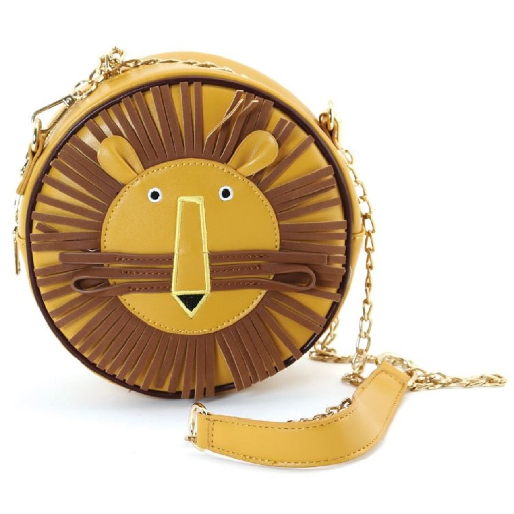 Sleepyville Critters Charlie the Lion Crossbody Bag in Vinyl Material
