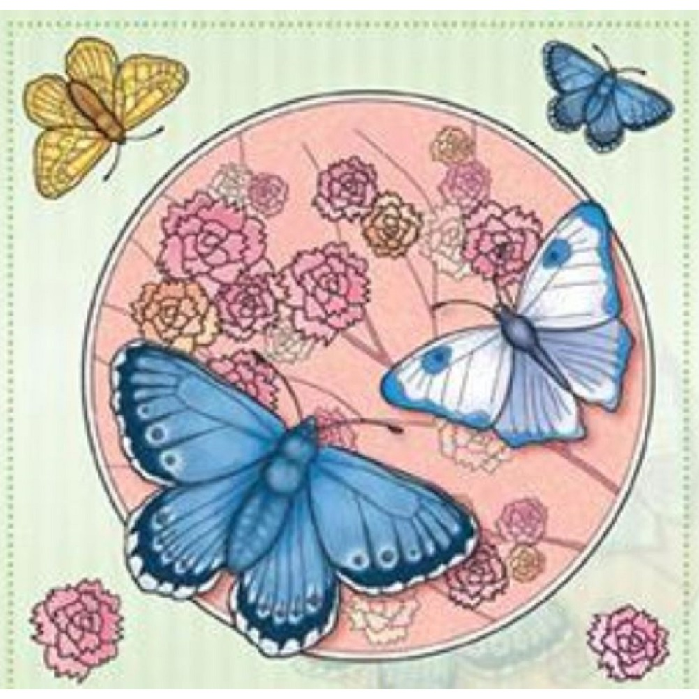 Marij Rahder Butterfly Insects and Flowers Set Cling Rubber Stamp
