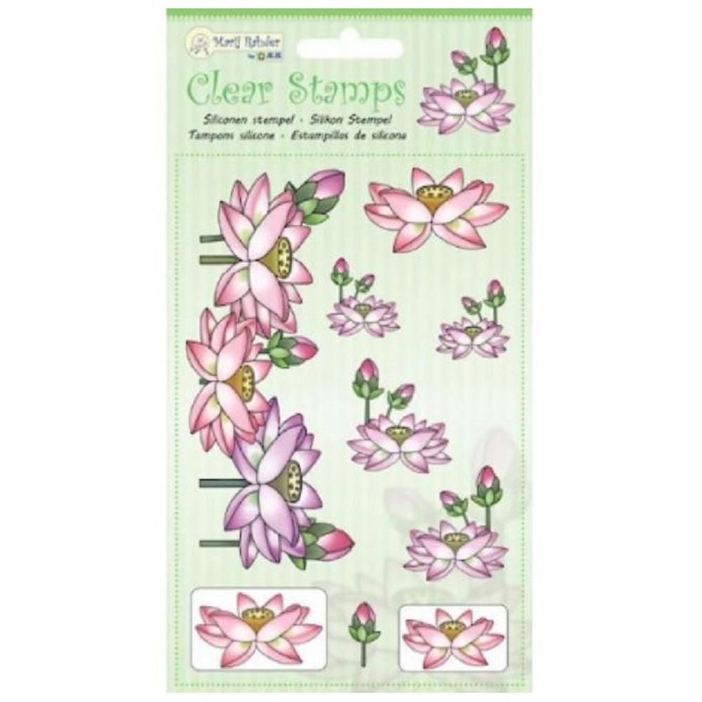 Marij Rahder Lotus Flower Garden Boanical Set Cling Rubber Stamp