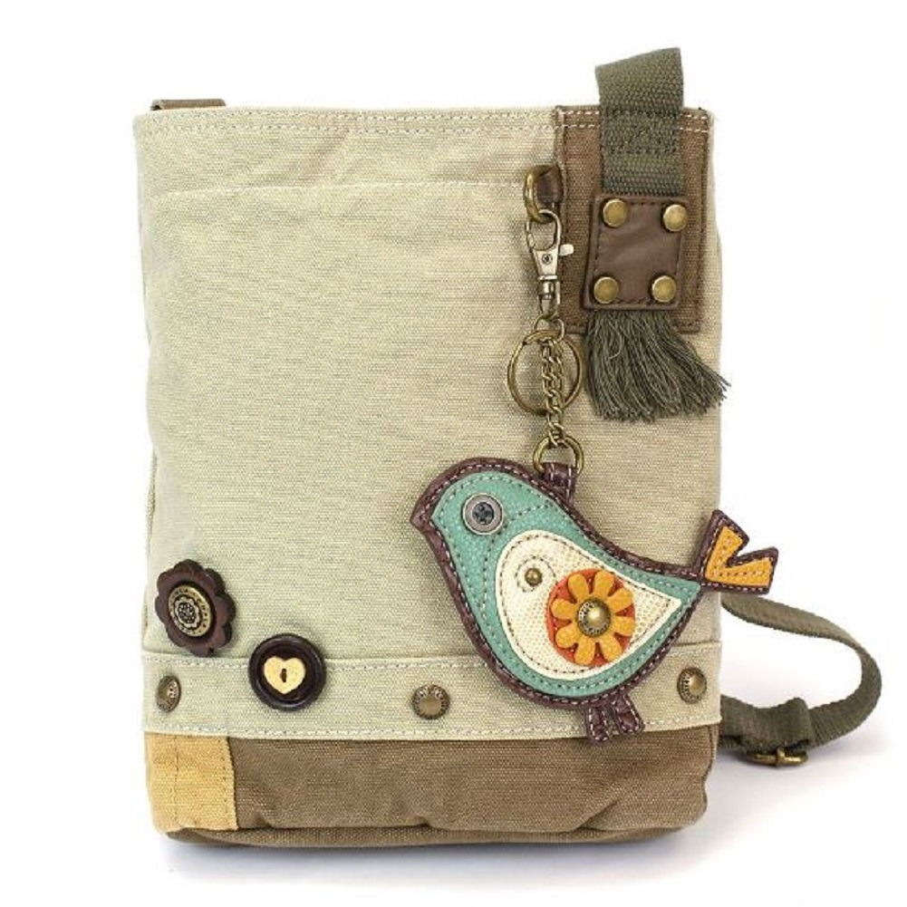 Chala Purse Handbag Canvas Crossbody with Key Chain Tote Bag Early Bird