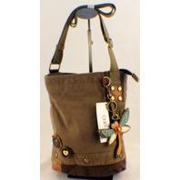 Chala Purse Handbag Canvas Crossbody with Key Chain Tote Bag Dragonfly