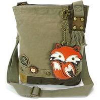 Chala Purse Handbag Crossbody Canvas with Key Chain Tote Bag Foxy Fox