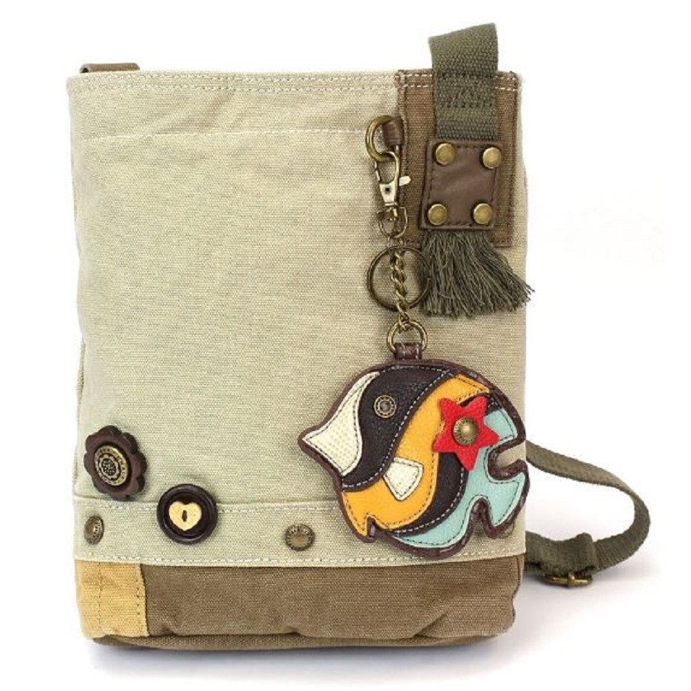 Chala Purse Handbag Sand Canvas Crossbody & Key Chain Tote Bag New Tropical Fish