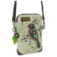 Charming Chala Song Bird on a Branch Cell Phone Purse Mini Crossbody Bag