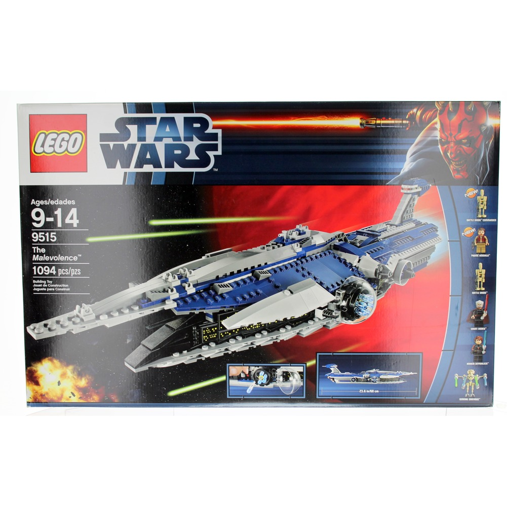 LEGO Star Wars 9515 The Malevolence Factory Sealed Ship with Mini Figs