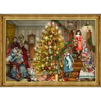 Old Print Factory Candlelit Tree Advent Calendar Victorian Holiday Inspired