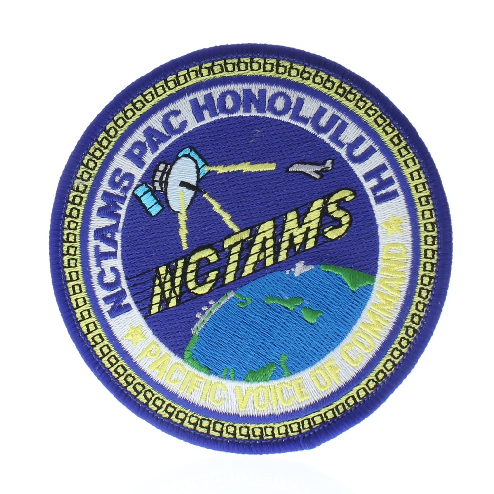 United States Navy NCTAMS Pac Honoulul Hi Pacific Voice of Command Uniform Patch