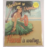 Vacation In Paradise Hawaii Is Waiting Funny Metal Sign Pub Game Room Bar