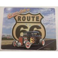 Get Your Licks On Route 66 Hot Rod Car Garage Bar Man Cave Metal Tin Sign