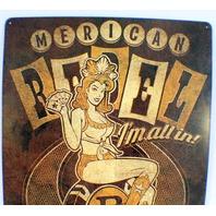 Merican American Rebel Gambler I'M All In Funny Retro Metal Tin Sign New